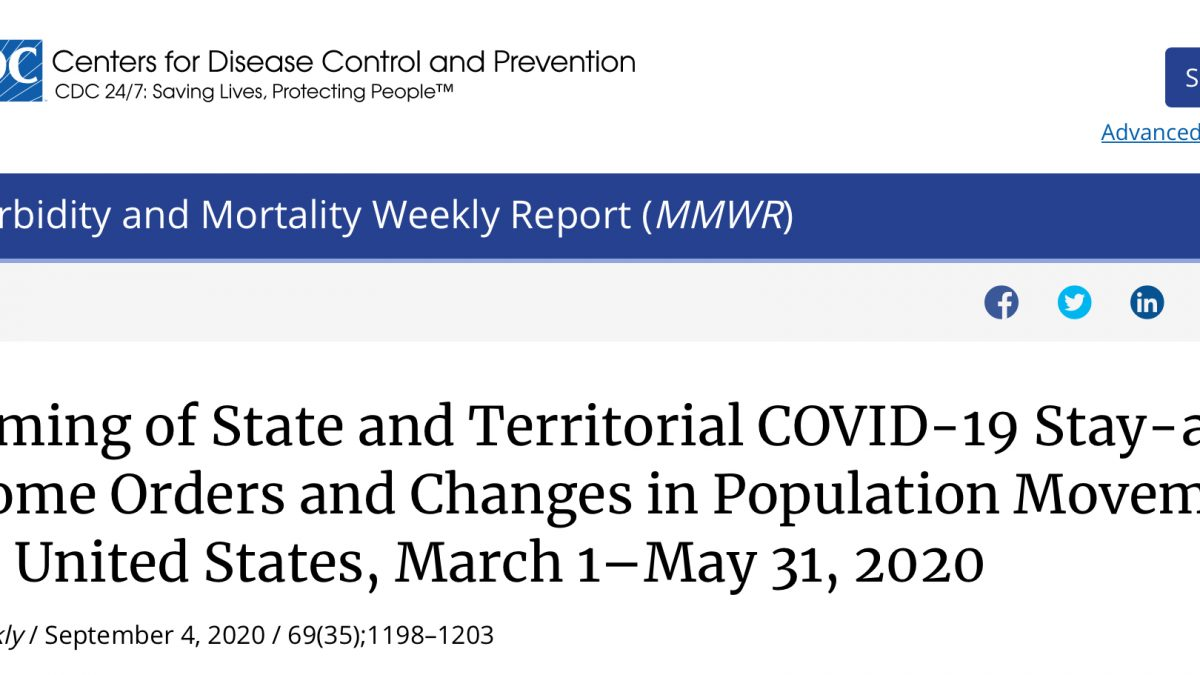 Population movement and COVID